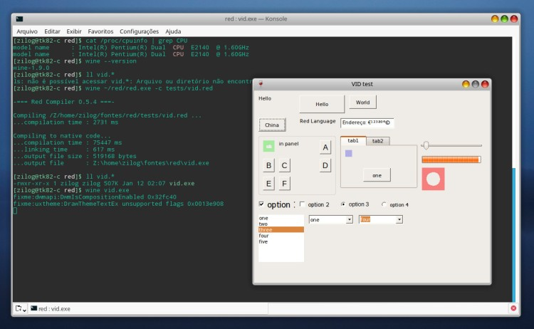 red-gui-linux